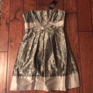 NWT BCBGMAXAZRIA Silk Woven Dress